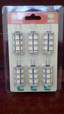 NEW Six JC G4 bi pin Tower base 3W LED 5050 12 Volt 360 Deg Outdoor Light Bulbs