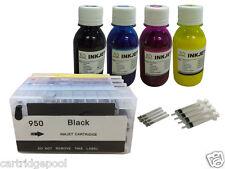 Refillable Cartridges for HP 950 951 XL OfficeJet Pro 8600 8610 8615 +4x100ml