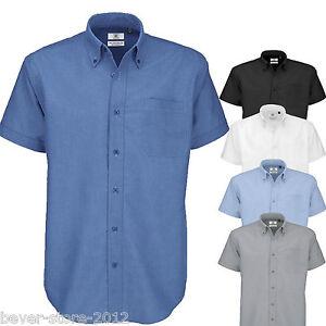 BC106 Kurzarm B/&C Oxford Herren Hemd