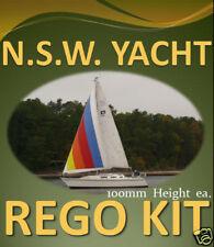 NSW YACHT REGO DECAL STICKER -Custom Cast Vinyl Sailing Boat Registration Number