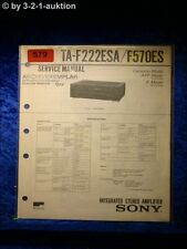 Sony Service Manual TA F222ESA / F570ES Amplifier  (#0579)