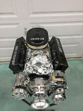 383 STROKER CRATE ENGINE 515HP SBC WITH A/C ROLER TURN KEY 700R4 included looook