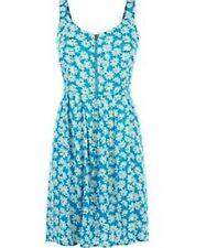 Brave Soul Blue Daisy Print Summer Sun Dress Skater Size XS Size 6