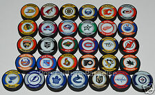 "HOCKEY PUCKS ALL 31 NHL TEAMS Complete Set ""Retro"" Series Puck Lot NEW w/Vegas"
