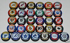 """HOCKEY PUCKS ALL 31 NHL TEAMS Complete Set """"Retro"""" Series Puck Lot NEW w/Vegas"""