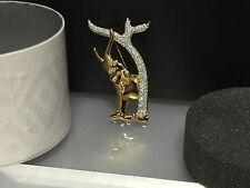 """Swarovski Figur """" Brosche Elefant """" 6,3 cm. mit Dose & Zertifikat. Top Zustand !"""