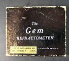 Antique THE GEM REFRACTOMETER, Box and Cloth Sack, Mid Century