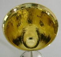 ENGLISH STERLING SILVER ARTS & CRAFTS GOBLET CHALICE 1971 GLOUCESTERSHIRE 152g