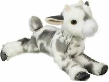 "Poppy 11"" Floppy Goat plush stuffed animal Douglas Cuddle Toys black gray white"