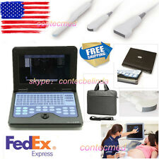 CONTEC Portable Laptop Ultrasound Scanner Diagnostic Machine 4 Probes USA FEDEX