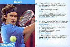 2005 Picture This? Sport #73 ROGER FEDERER