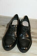 jolies chaussures compensées cuir noir CLARKS pointure 36 femme parfait état
