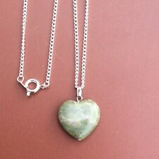 Connemara marble heart pendant. Irish gemstone jewellery Christmas Valentine