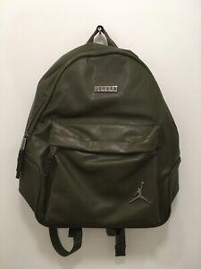 Nike Air Jordan Regal Air Faux Leather Backpack Olive Canvas 9A0136-X34 NWT