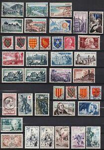 FRANKREICH,FRANCE ,1954-1956 SCHÖNES LOT aus MI 1004-1103 UNGEBRAUCHT/GESTEMPELT