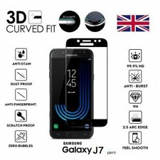 For Samsung Galaxy J7 (2017) 3D Curved Tempered Glass LCD Screen Protector Black
