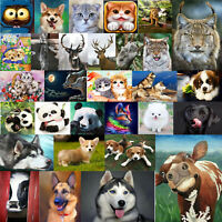 5D DIY Full Drill Diamond Painting Animal Cross Stitch Embroidery Mosaic Craft