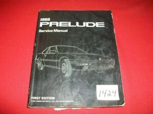 HONDA PRELUDE 1988 ORIG. FACTORY SERVICE MANUAL & ELECTRICAL TROUBLESHOOTING SET