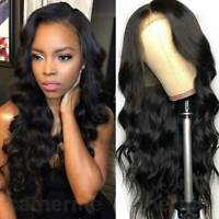 Body Wavy Lace Front Wig Indian Virgin Human Hair Wig Full Lace Wig Glueless Dfd
