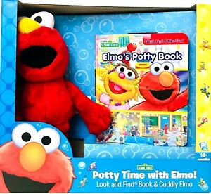 Sesame Street Potty Time With Elmo Look & Find Book & Cuddly Elmo 18 Months & Up