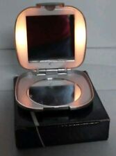 NEW AVON LIGHT UP MIRROR COMPACT RETIRED 2002 SILVER GREY