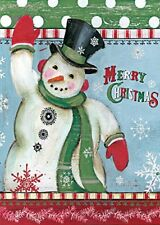 Merry Christmas - Snowman - Mini Garden Flag - Brand New 12x18 Christmas 0007