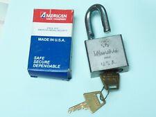 New American Lock Company Series 50 Steel Padlock W Two Keys