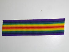 b4167 WW 1 US and Allies Victory Medal Rainbow ribbon C5A5