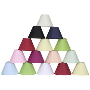 "Table Lamp Shades 9"" Easy Fit Pendant Coolies Various Colours Available"