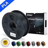 SUNLU PLA 3D Printer Filament 1.75mm 1KG/2.2lb Spool Black PLA Printer Filament