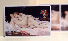 "#3149 Vintage LGBT Art Lesbian Sex Couple in bed Antique Retro 4"" Decal Sticker"