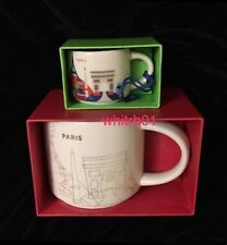 Starbucks Paris Mug Ornament Set YAH France Christmas Cup Holiday You Are Here