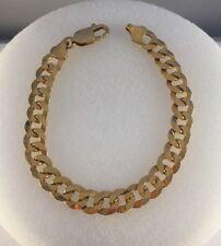 "9ct Gold Curb Bracelet     0.8cm Wide     7.5"" Length    12.6g   NEW"