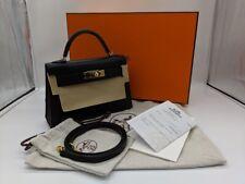 Hermès Mini Kelly Sellier 2 Noir Epsom Hand Bag