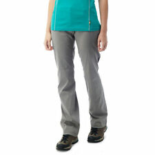 Straight Leg Polyamide Mid Rise Trousers for Women