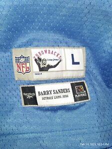 Vintage 1996 Barry Sanders Throwback Gridiron Reebok jersey Large NFL classic