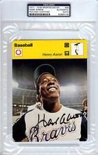 Hank Aaron Autographed 1977-1979 Sportscaster Card #6 Braves PSA/DNA 83894736
