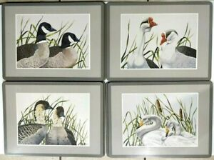 Pimpernel Waterfowl Cork Backed Placemats Made In England Ducks Birds Swan 7 pcs