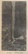 A0924 Colorado - Il Gran Canon - Stampa Antica del 1911 - Xilografia