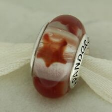 Authentic Pandora 790906 Cinnamon Stars Murano Glass Bead Charm
