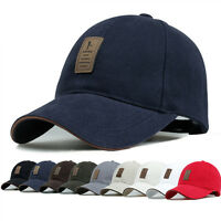New Cotton Baseball Cap Sports Golf Snapback Outdoor Simple Solid Hats For Men G