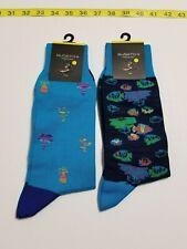 Bugatchi Designer Socks - Multi-Color - One Size - NWT - 2 Pair