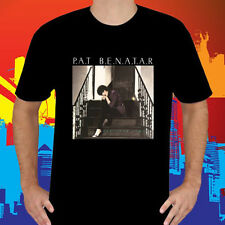New Pat Benatar Precious Time Logo Men's Black T-Shirt Size S to 3XL