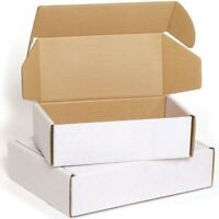 White Postal Cardboard Boxes Small Mailing Shipping Cartons Gift Shipping Parcel