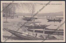 VARESE LAGO DI VARESE 14 BARCHE da PESCA - PESCATORI Cartolina viaggiata 1941