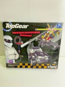 K'NEX BBC Top Gear Stig's Attack Copter/ Off Roader Building Set 277pc. Boxed