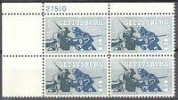 USA Mi Nr. 843 postfrisch MNH 4 er Block Gettysburg Krieg 1963 Plattennummer