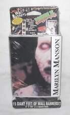 MARILYN MANSON self stick BANNER 15 ft WALL EUPHORIA New in Original Package NIP