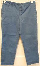 "RALPH LAUREN Cropped Capris Pants Inseam 24"" Size 4 ~ Wedgewood Blue"