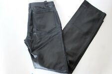 Morgan De Toi Women's Size 6 Soft Shiny Black Leather Motorcycle Biker Pants